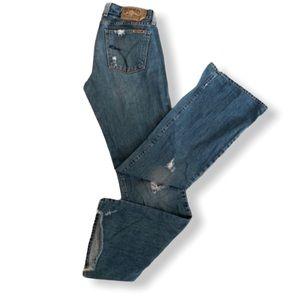 Lucky Brand Distress Sweet Dream Boot Cut Jeans